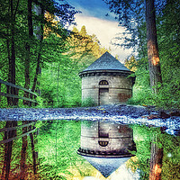 Buy canvas prints of Reflections at the Hall by Fraser Hetherington