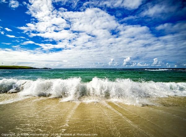 North Uist Breaking Waves  Canvas Print by Fraser Hetherington