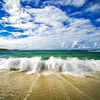 Buy canvas prints of North Uist Breaking Waves  by Fraser Hetherington