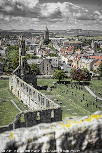 St Andrews Cathedral Canvas Print by Fraser Hetherington