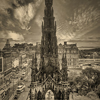 Buy canvas prints of Scott Monument by Fraser Hetherington