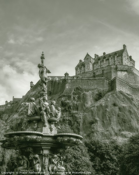 Edinburgh Castle Canvas Print by Fraser Hetherington