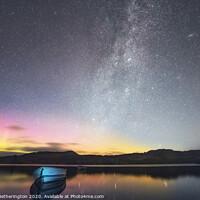 Buy canvas prints of Loch Ordie Aurora and Milky Way by Fraser Hetherington