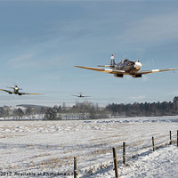 Buy canvas prints of Spitfires Low-level by Pat Speirs