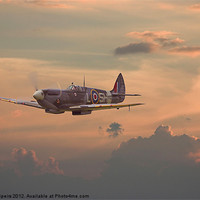Buy canvas prints of Sunset Spitfire by Pat Speirs