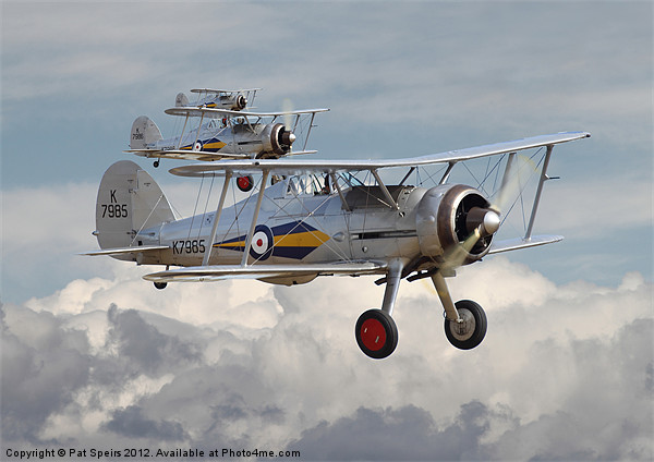 Gloster Gladiator Framed Mounted Print by Pat Speirs