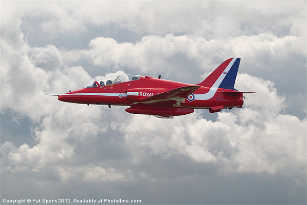 Red Arrows  HS Hawk Canvas Print by Pat Speirs