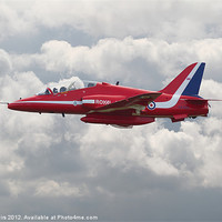 Buy canvas prints of Red Arrows  HS Hawk by Pat Speirs