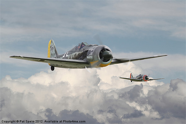 Fw 190 - Butcher Bird Framed Mounted Print by Pat Speirs
