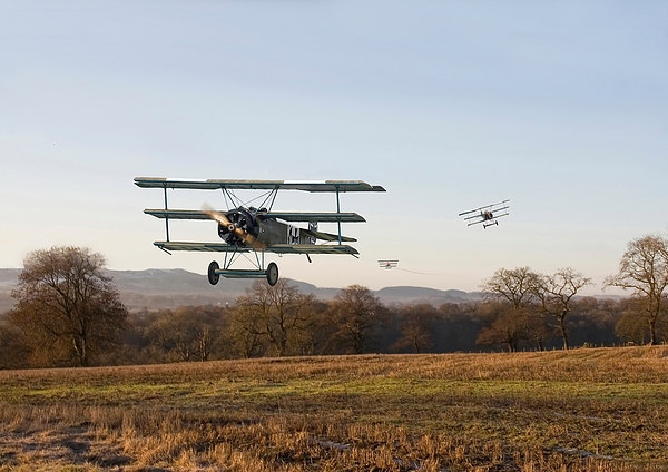 Fokker Dr1 Triplane - Days End Canvas print by Pat Speirs