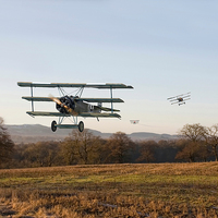 Buy canvas prints of Fokker Dr1 Triplane - Days End by Pat Speirs