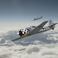 Buy canvas prints of Luftwaffe - FW190 by Pat Speirs