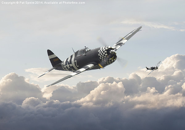 P47G - Thunderbolt  Combat Pair Canvas print by Pat Speirs