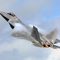 Buy canvas prints of 'Smokin' - F22 Raptor on the go. by Pat Speirs
