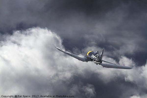 Royal Navy Corsair - tropical thunder Canvas print by Pat Speirs