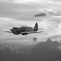 Buy canvas prints of Spitfire - 'and shadows fall' by Pat Speirs