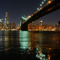 Buy canvas prints of View of Manhattan from Brooklyn by Lynn hanlon