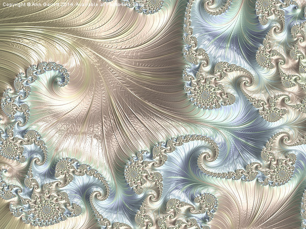 Mother of Pearl - A Fractal Abstract Canvas print by Ann Garrett