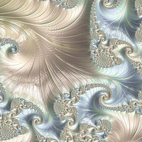 Buy canvas prints of Mother of Pearl - A Fractal Abstract by Ann Garrett
