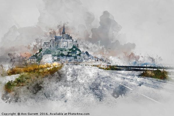 Mont Saint Michel Canvas print by Ann Garrett