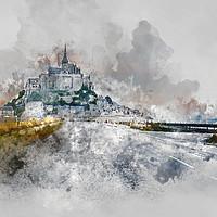 Buy canvas prints of Mont Saint Michel by Ann Garrett