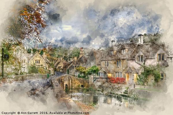 Castle Combe Canvas print by Ann Garrett