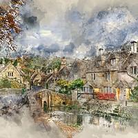 Buy canvas prints of Castle Combe by Ann Garrett