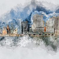 Buy canvas prints of Downtown Manhattan by Ann Garrett