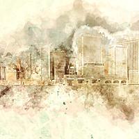 Buy canvas prints of Downtown Manhattan Variation by Ann Garrett