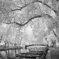 Buy canvas prints of Pont des Amours, Annecy, France by Ann Garrett