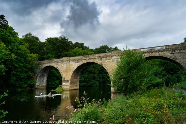 Prebends Bridge Durham Canvas print by Ann Garrett
