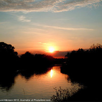 Buy canvas prints of SUNSET OVER WATER by David Atkinson