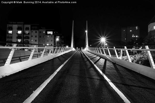 Millenium bridge norwich at night Canvas print by Mark  Bunning