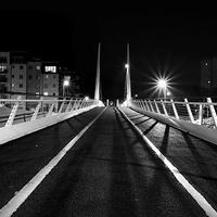 Buy canvas prints of Millenium bridge norwich at night by Mark  Bunning