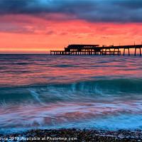 Buy canvas prints of Pier sunrise by Vinicios de Moura