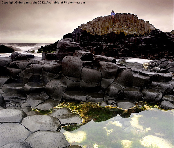 Giants causeway Canvas print by duncan speirs