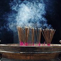Buy canvas prints of Incense sticks by Sam Burton