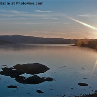 Buy canvas prints of Sunset over loch sunart by Rick Lindley