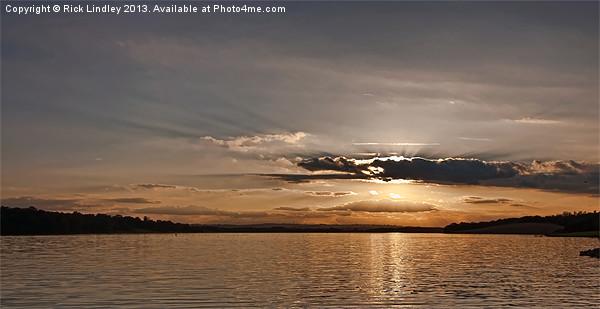 Sunset Rutland water Canvas Print by Rick Lindley