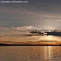 Buy canvas prints of Sunset Rutland water by Rick Lindley