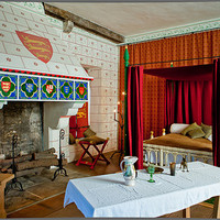Buy canvas prints of Bedchamber, Tower of London by David Tyrer