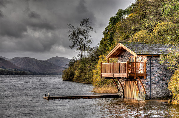 Boat House Canvas print by David Tyrer