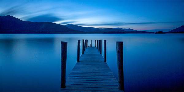 Jetty at Twilight Canvas Print by David Tyrer
