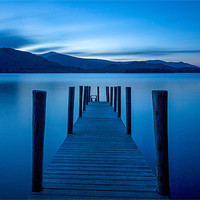 Buy canvas prints of Jetty at Twilight by David Tyrer