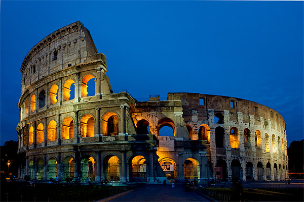The Colloseum Framed Mounted Print by David Tyrer