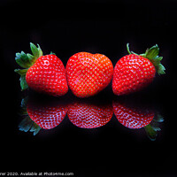 Buy canvas prints of Strawberry Trio by Dave Tyrer