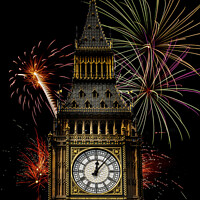 Buy canvas prints of Big Ben Celebrations by David Tyrer