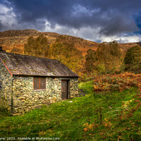 Buy canvas prints of Old Mountain Hut - Ashness Bridge by David Tyrer