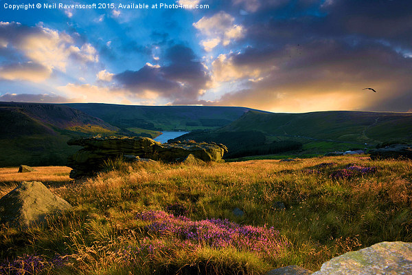 Dovestone sunset Canvas Print by Neil Ravenscroft
