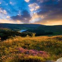 Buy canvas prints of  Dovestone sunset by Neil Ravenscroft
